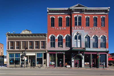 Usa, Colorado, Leadville, Historic Art Print by Walter Bibikow
