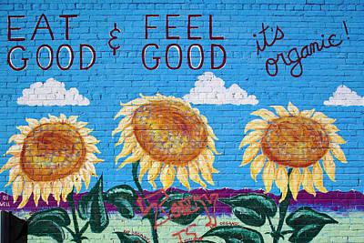 Mural Photograph - Usa, Colorado, Salida, Eat Organic by Walter Bibikow