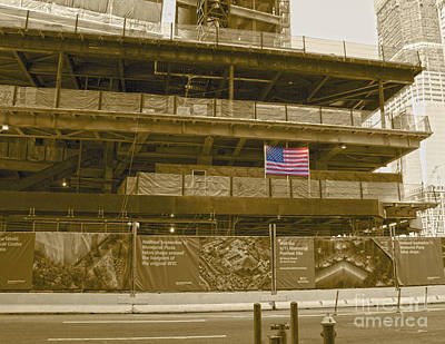 Photograph - Usa Flag At Ground Zero by D Wallace