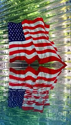 Photograph - Usa Flag Reflect  by Susan Garren
