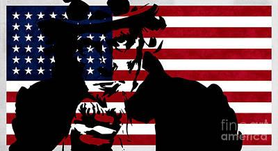 Revolution Digital Art - Usa Flag by T Lang