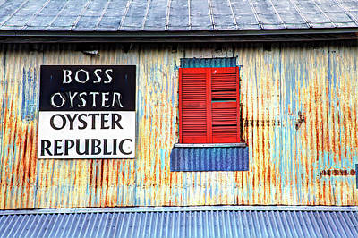 Usa, Florida, Apalachicola, Old Tin Print by Joanne Wells