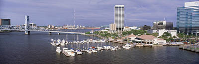 Riverwalk Photograph - Usa, Florida, Jacksonville, St. Johns by Panoramic Images