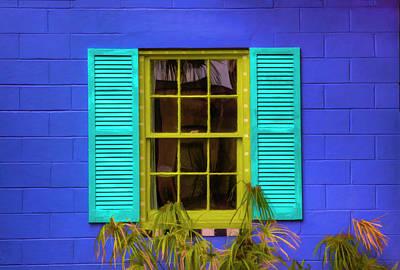 Usa, Georgia, Darien, Colorful Window Print by Joanne Wells