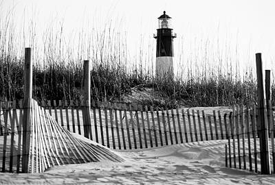 Usa, Georgia, Tybee Island, Fences Art Print by Ann Collins