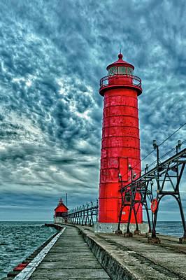 Usa, Grand Haven, Michigan, Lighthouse Art Print by Rona Schwarz