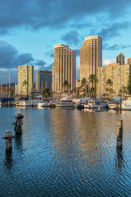 Usa, Hawaii, Oahu, Honolulu, Ala Moana Art Print