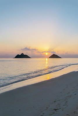 Usa, Hawaii, Oahu, Lanikai Beach Print by Rob Tilley