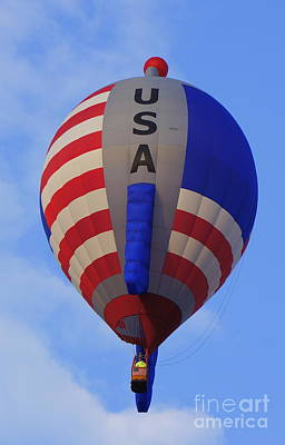 Photograph - Usa Hot Air Balloon by Rachel Munoz Striggow