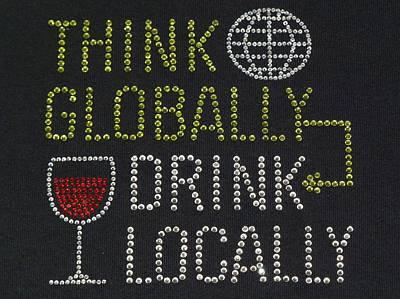 Ben Weinberg Photograph - Usa Idaho - Boise Think Globally Drink Locally by Benjamin Weinberg