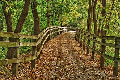 Indiana Photograph - Usa, Indiana City Hiking Trail by Rona Schwarz