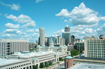 Indiana Photograph - Usa, Indiana, Indianapolis Skyline by Lee Foster