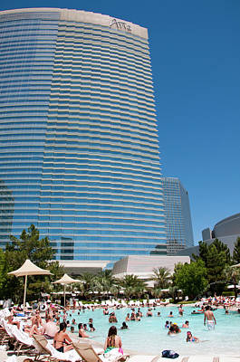 The Strip Photograph - Usa Las Vegas, Aria Resort by Lee Foster