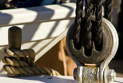 Pulley Photograph - Usa, Maine, Castine by Jaynes Gallery