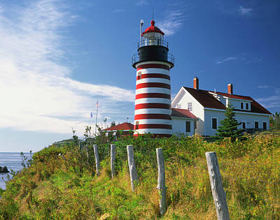 Flagpole Photograph - Usa, Maine, Lubec by Jaynes Gallery