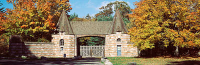 Gatehouse Photograph - Usa, Maine, Mount Desert Island, Acadia by Panoramic Images