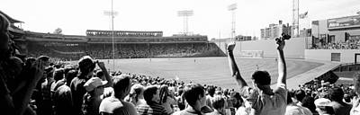 Black Stand Photograph - Usa, Massachusetts, Boston, Fenway Park by Panoramic Images
