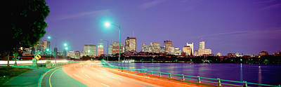 Charles River Photograph - Usa, Massachusetts, Boston, Highway by Panoramic Images