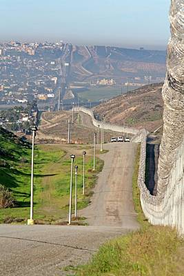 Tijuana Photograph - Usa-mexico Border Surveillance by Jim West