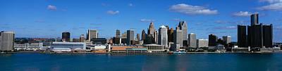 Renaissance Center Photograph - Usa, Michigan, Detroit by Panoramic Images
