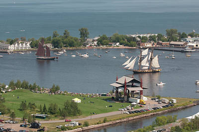 Usa, Minnesota, Duluth, Duluth Harbor Art Print by Peter Hawkins