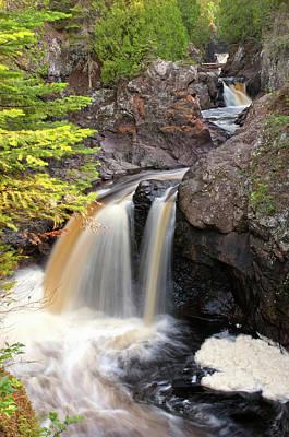 Minnesota Photograph - Usa, Minnesota, Lutsen, Cascade River by Peter Hawkins