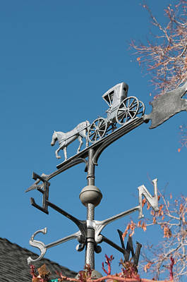 Weathervane Photograph - Usa, Nevada Edith Palmer's Country Inn by Michael Defreitas