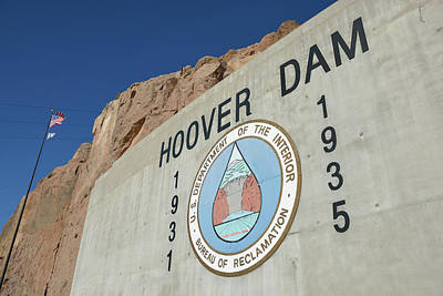 Hoover Dam Photograph - Usa, Nevada, Hoover Dam Us Department by Kevin Oke