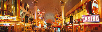 Usa, Nevada, Las Vegas, Night Art Print
