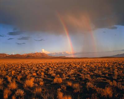 Usa, Nevada, Nevada Desert, Rainbows Print by Panoramic Images
