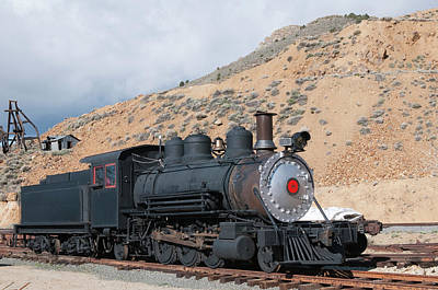 Terminal Photograph - Usa, Nevada Old Steam Train Engine by Michael Defreitas