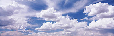 Usa, Nevada, View Of Cumulus Clouds Print by Panoramic Images