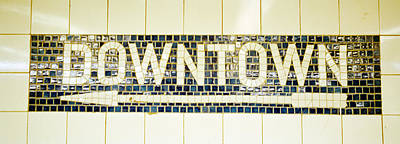 Nyc Subway Mosaic Photograph - Usa, New York City, Subway Sign by Panoramic Images