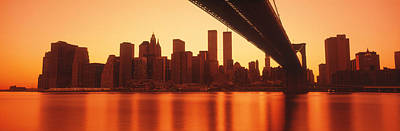 Twin Towers Photograph - Usa, New York, East River And Brooklyn by Panoramic Images