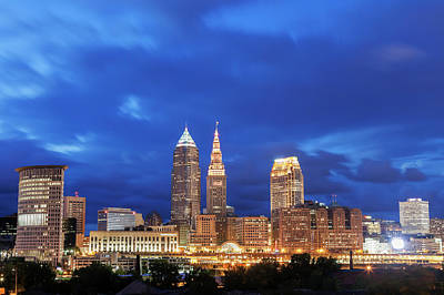 Ohio Photograph - Usa, Ohio, Cleveland, City Skyline At by Henryk Sadura