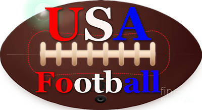 Digital Art - Usa Football Vintage by R Muirhead Art