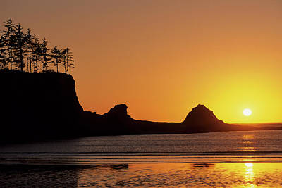 Usa, Oregon, Astoria, Sunset, Sunset Art Print