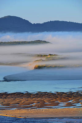 Cape Lookout Photograph - Usa, Oregon Morning Fog Over Netarts by Jaynes Gallery