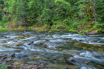 Salmon River Photograph - Usa, Oregon, Mount Hood National by John Barger