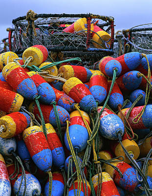 Crab Nets Photograph - Usa, Oregon, Newport by Jaynes Gallery