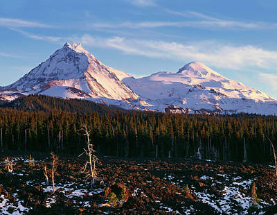 Mckenzie Pass Photograph - Usa, Oregon, Three Sisters Wilderness by John Barger