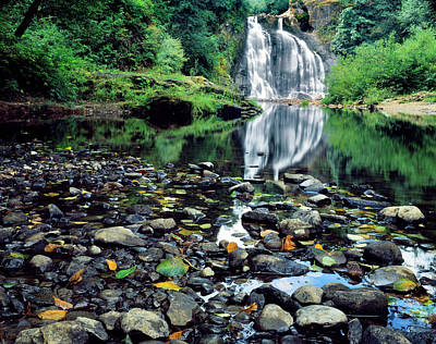 Large Format Photograph - Usa, Oregon, Young's River Falls by Jaynes Gallery