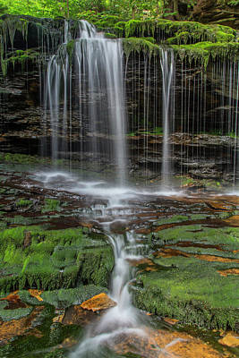 Ricketts Glen Photograph - Usa, Pennsylvania, Benton by Jaynes Gallery
