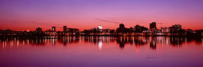 Susquehanna River Photograph - Usa, Pennsylvania, Harrisburg At Dusk by Panoramic Images