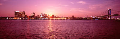 Franklin Photograph - Usa, Pennsylvania, Philadelphia At Dusk by Panoramic Images