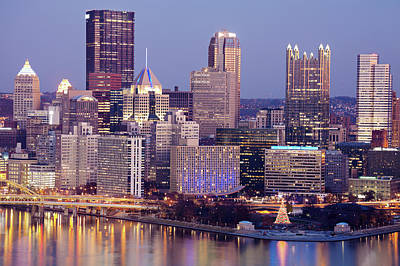 Cityscape Photograph - Usa, Pennsylvania, Pittsburgh, Cityscape by Henryk Sadura