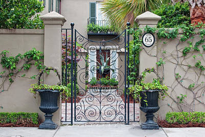 Architectural Detail Photograph - Usa, Sc, Charleston, Historic District by Rob Tilley