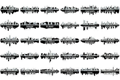 Usa Skylines 4 Art Print
