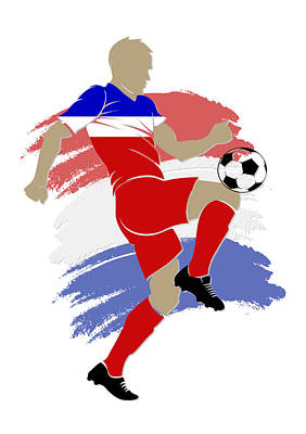 Usa Soccer Player Art Print by Joe Hamilton