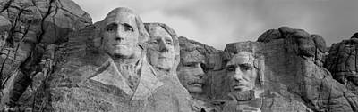 Theodore Photograph - Usa, South Dakota, Mount Rushmore, Low by Panoramic Images